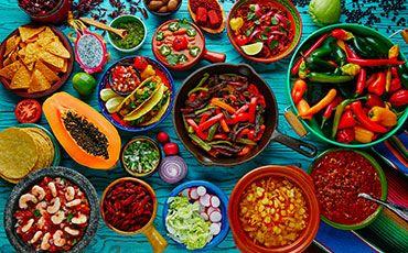 Teaser Freizeitprogramm Sprachurlaub mit kulinarisches Köstlichkeiten mexikanisches Essen