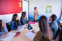 Gruppenunterricht in der Sprachschule in San Diego