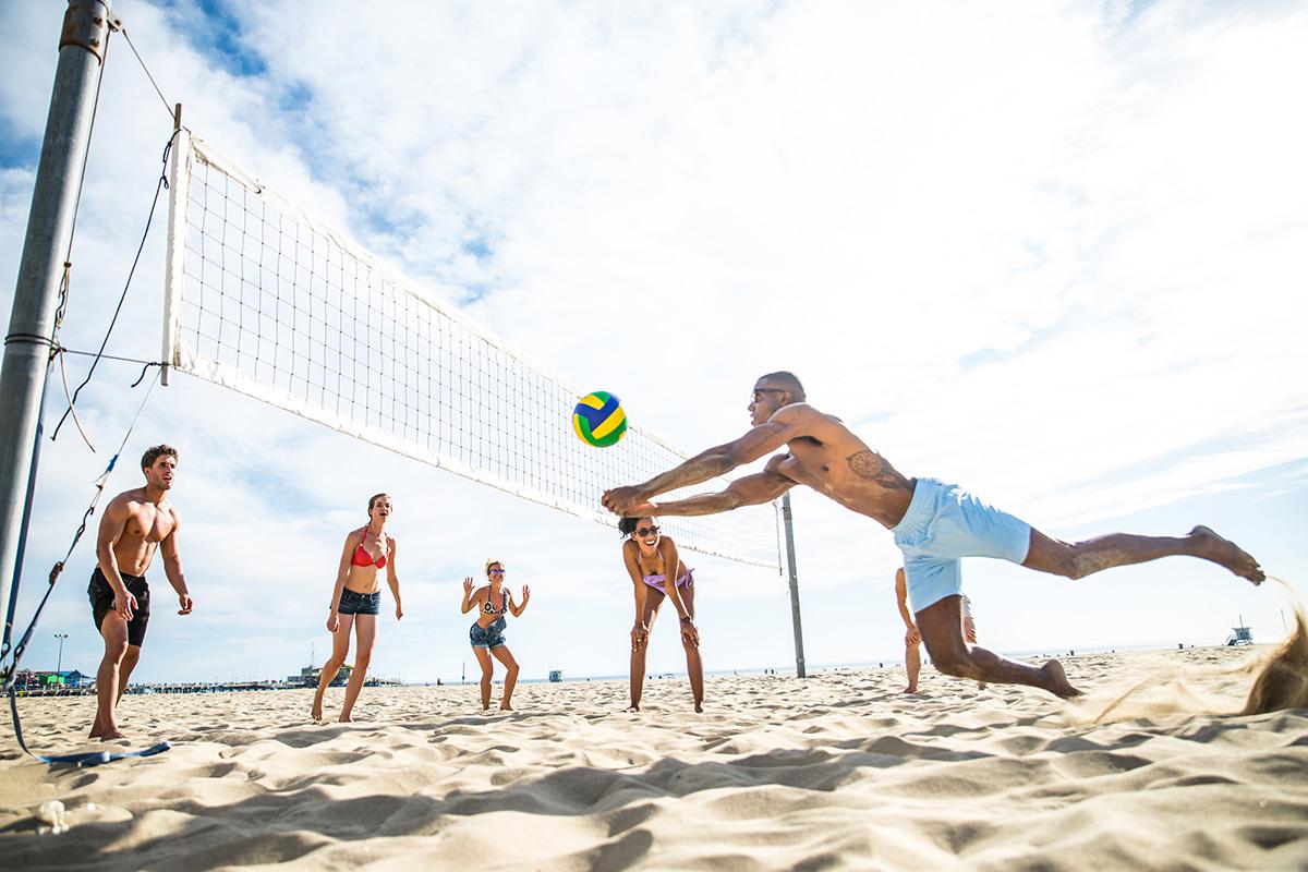 Teaser Freizeitprogramm Sprachurlaub mit Sport Beachvolleyball in Los Angeles