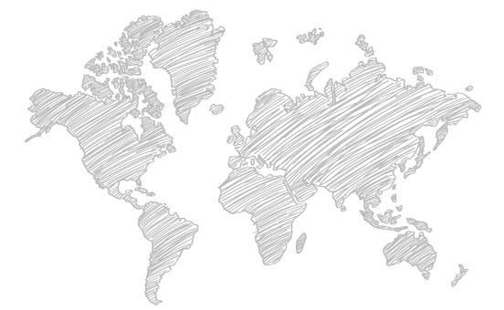 Weltkarte Scribble Vorteile Alpha Sprachreisen