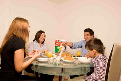 Sprachaufenthalt Newcastle in England Fruehstueck mit Gastfamilie