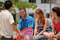 Sprachschueler erkunden Playa del Carmen