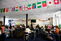 Studenten Cafe der Sprachschule in Newcastle in England