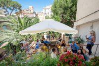 Sprachschule in Rom - Pause auf der Terrasse