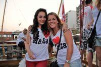 Schülersprachreise nach Sliema auf Malta - Schülerinnen während Bootsparty